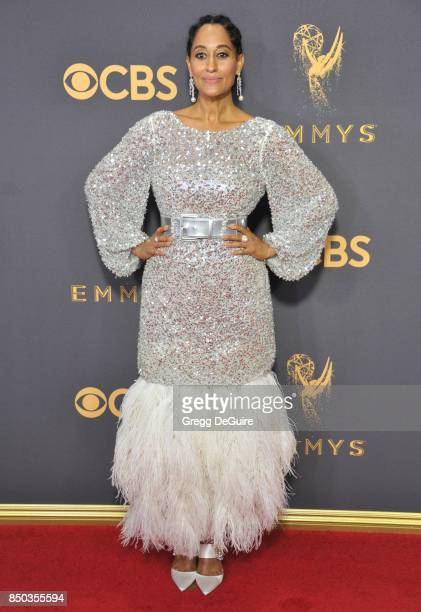 Tracee Ellis Ross arrives at the 69th Annual Primetime Emmy Awards at Microsoft Theater on September 17, 2017 in Los Angeles, California.