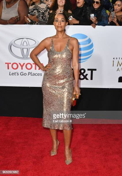 Tracee Ellis Ross at the 49th NAACP Image Awards on January 15 2018 in Pasadena California