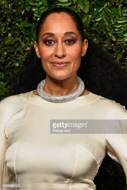 Tracee Ellis Ross attends Charles Finch And Chanel PreOscar Awards Dinner At Madeo in Beverly Hills at Madeo Restaurant on March 3 2018 in Los...