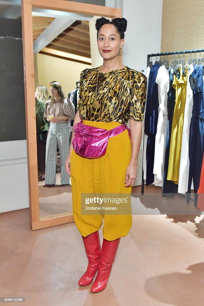 Tracee Ellis Ross attends Conde Nast & The Women March's Cocktail Party to Celebrate the One Year Anniversary of the March & the Publication of Together We Rise on January 24, 2018 in West Hollywood, California.
