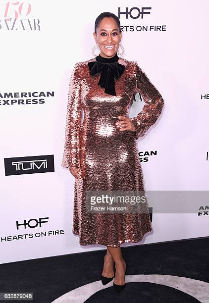 Tracee Ellis Ross attends Harper's BAZAAR celebration of the 150 Most Fashionable Women presented by TUMI in partnership with American Express La...