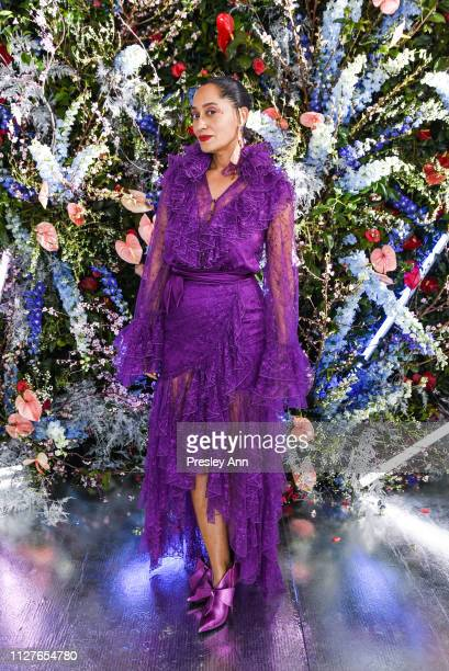 Tracee Ellis Ross attends Rodarte FW19 Fashion Show at The Huntington Library and Gardens on February 05 2019 in San Marino California