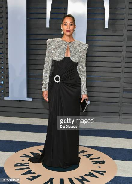 Tracee Ellis Ross attends the 2018 Vanity Fair Oscar Party hosted by Radhika Jones at Wallis Annenberg Center for the Performing Arts on March 4,...
