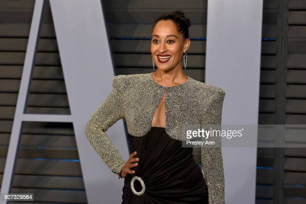 Tracee Ellis Ross attends the 2018 Vanity Fair Oscar Party Hosted By Radhika Jones - Arrivals at Wallis Annenberg Center for the Performing Arts on...