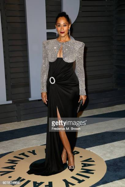 Tracee Ellis Ross attends the 2018 Vanity Fair Oscar Party hosted by Radhika Jones at Wallis Annenberg Center for the Performing Arts on March 4 2018...