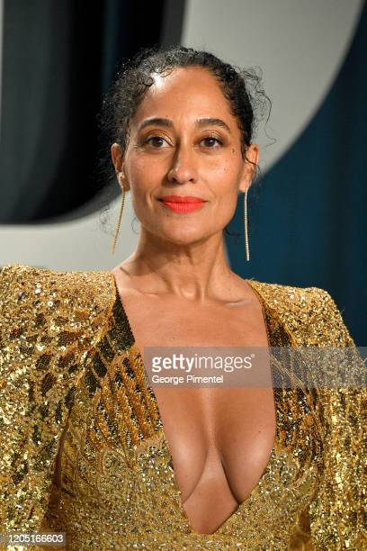 Tracee Ellis Ross attends the 2020 Vanity Fair Oscar party hosted by Radhika Jones at Wallis Annenberg Center for the Performing Arts on February 09...