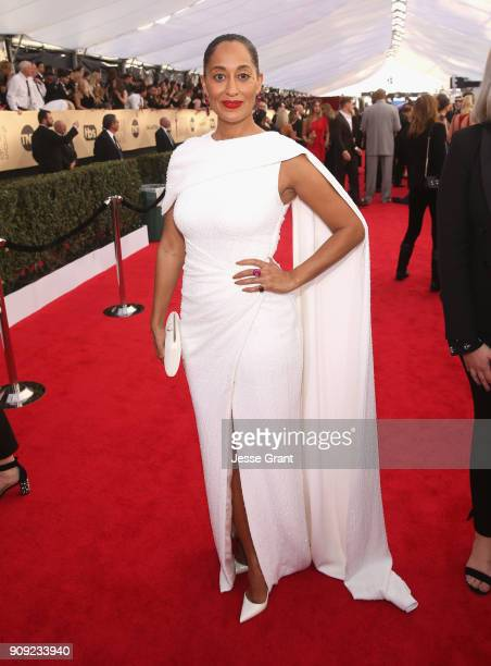 Tracee Ellis Ross attends the 24th Annual Screen Actors Guild Awards at The Shrine Auditorium on January 21 2018 in Los Angeles California