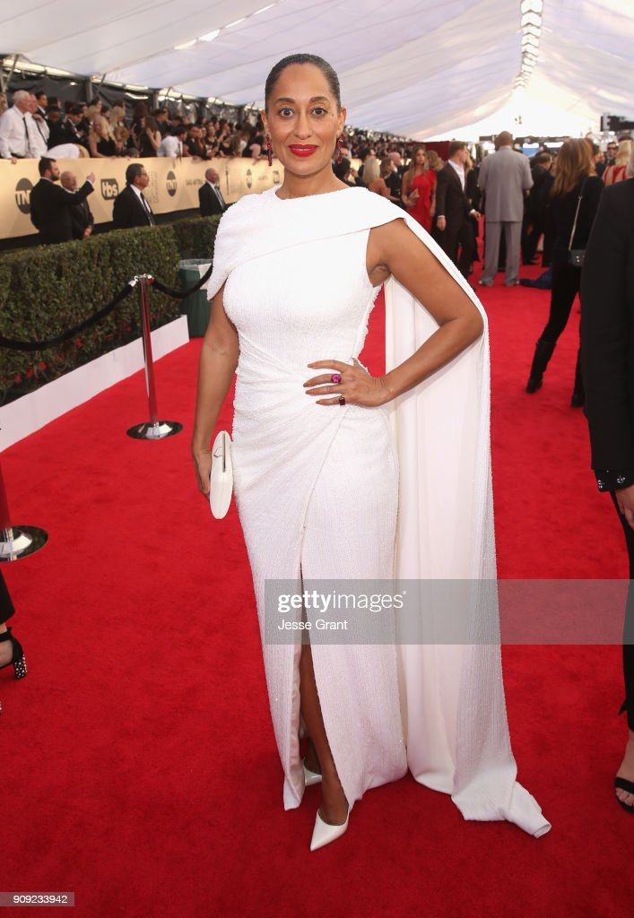 Tracee Ellis Ross attends the 24th Annual Screen Actors Guild Awards at The Shrine Auditorium on January 21, 2018 in Los Angeles, California.
