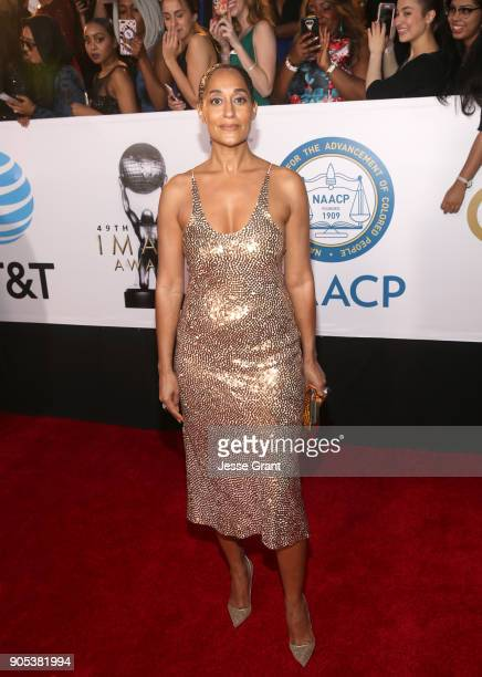 Tracee Ellis Ross attends the 49th NAACP Image Awards at Pasadena Civic Auditorium on January 15 2018 in Pasadena California