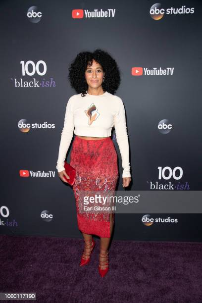 Tracee Ellis Ross attends the Blackish 100th Episode Celebration at Walt Disney Studios on November 10 2018 in Burbank California