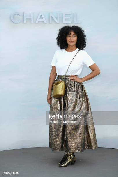 Tracee Ellis Ross attends the Chanel Haute Couture Fall Winter 2018/2019 show as part of Paris Fashion Week on July 3 2018 in Paris France