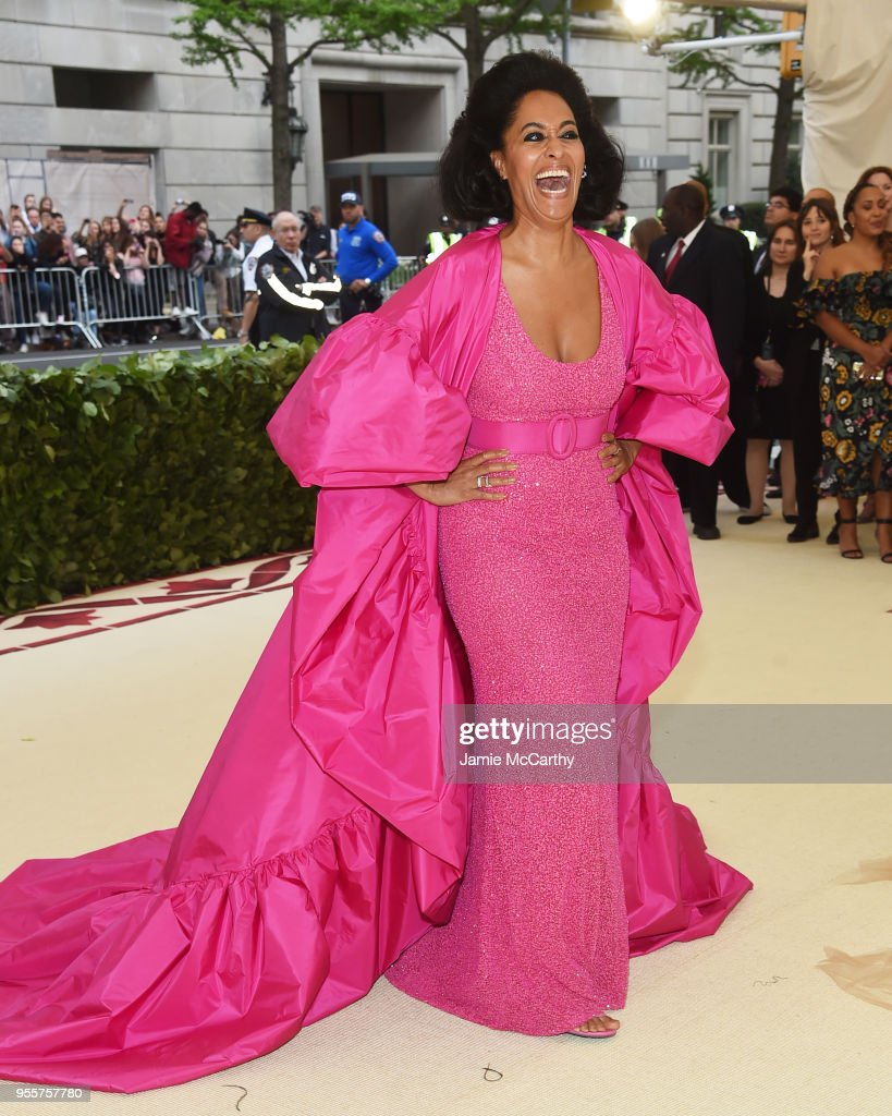 Tracee Ellis Ross attends the Heavenly Bodies: Fashion & The Catholic Imagination Costume Institute Gala at The Metropolitan Museum of Art on May 7, 2018 in New York City.