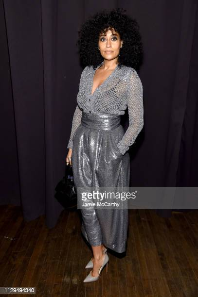 Tracee Ellis Ross attends the Marc Jacobs Fall 2019 Show at Park Avenue Armory on February 13 2019 in New York City