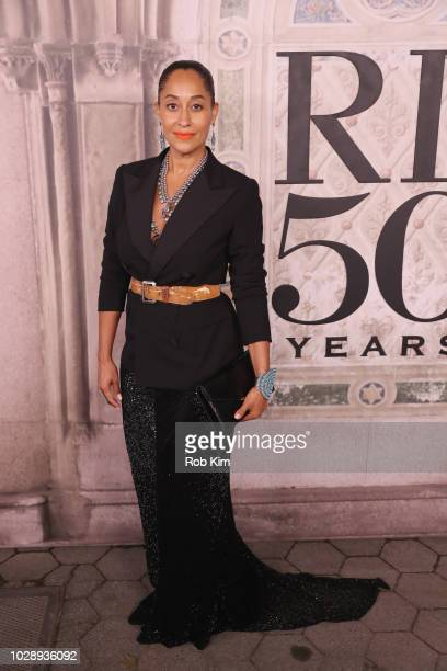 Tracee Ellis Ross attends the Ralph Lauren fashion show during New York Fashion Week at Bethesda Terrace on September 7 2018 in New York City