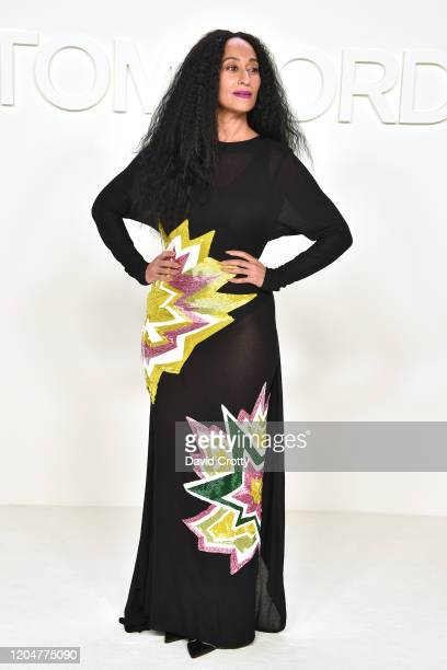 Tracee Ellis Ross attends the Tom Ford AW/20 Fashion Show at Milk Studios on February 07, 2020 in Los Angeles, California.