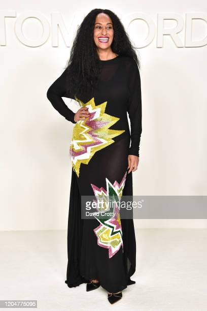 Tracee Ellis Ross attends the Tom Ford AW/20 Fashion Show at Milk Studios on February 07 2020 in Los Angeles California
