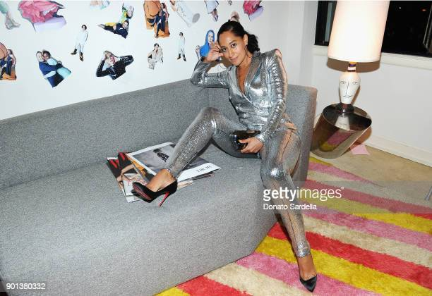 Tracee Ellis Ross attends W Magazine's Celebration of its 'Best Performances' Portfolio and the Golden Globes with Audi Dior and Dom Perignon at...