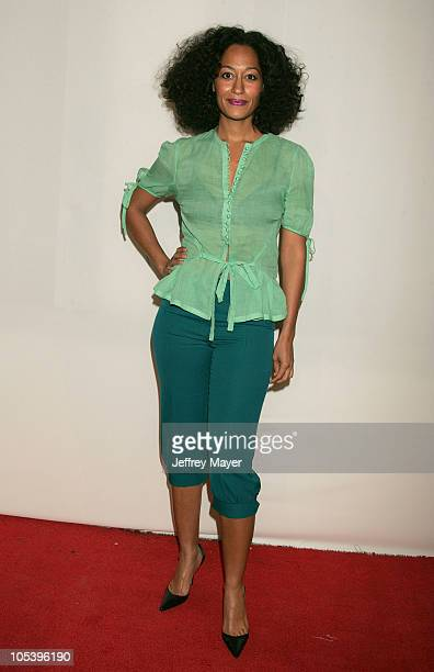 Tracee Ellis Ross during CBS and UPN 2005 TCA Party Arrivals at Quixote Studios in Los Angeles California United States
