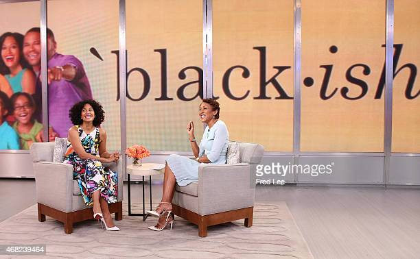 AMERICA Tracee Ellis Ross is a guest on 'Good Morning America' 3/30/15 airing on the ABC Television Network