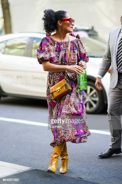 Tracee Ellis Ross is seen in the Upper West Side on May 3 2018 in New York City