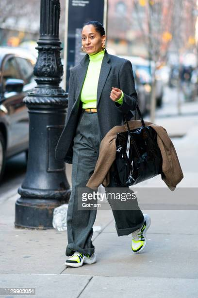 Tracee Ellis Ross is seen in Tribeca on February 15 2019 in New York City