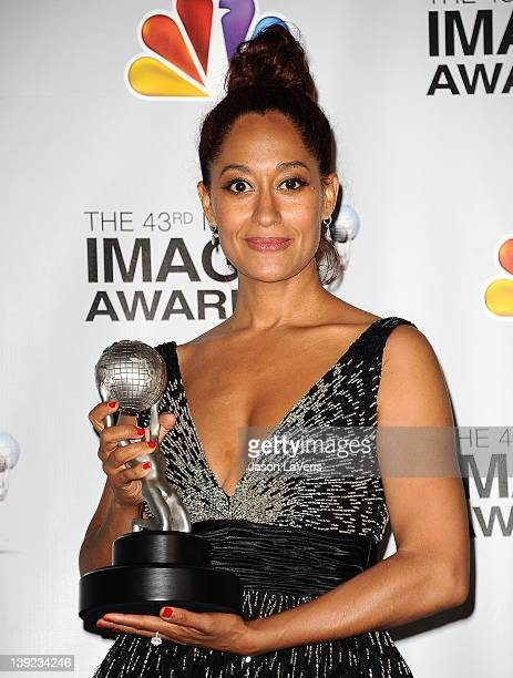 Tracee Ellis Ross poses in the press room at the 43rd annual NAACP Image Awards at The Shrine Auditorium on February 17 2012 in Los Angeles California