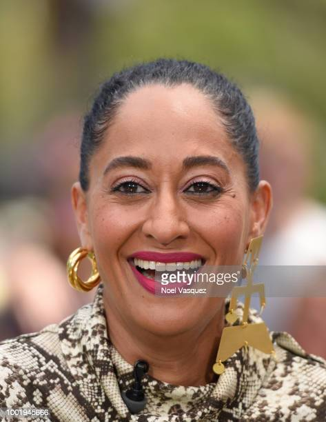 Tracee Ellis Ross visits 'Extra' at Universal Studios Hollywood on July 19 2018 in Universal City California