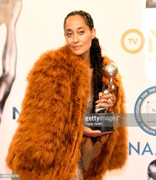 Tracee Ellis Ross winner of Outstanding Actress in a Comedy Series for 'Blackish' poses in the press room for the 49th NAACP Image Awards at Pasadena...