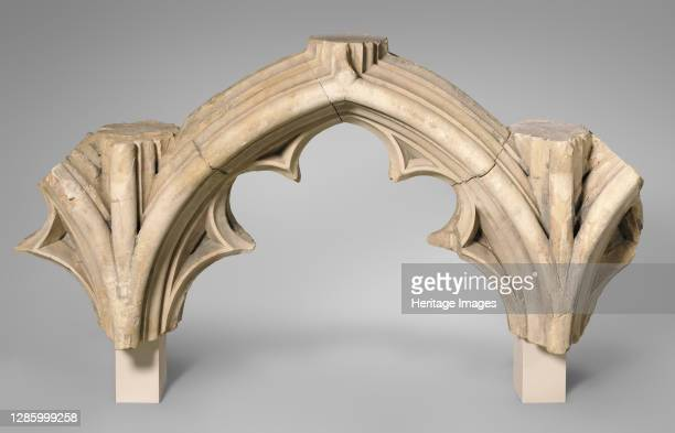 Tracery Arcade from the Great South Window of Canterbury Cathedral, British, circa 1426-1435. Design perhaps by Master Mason Stephen Lote or Master...