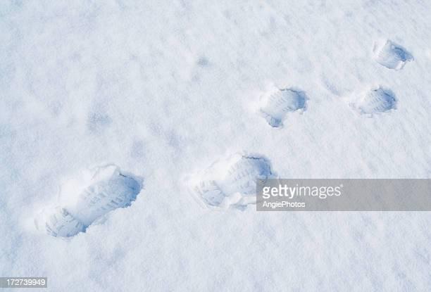 traces in the snow - fotspår bildbanksfoton och bilder