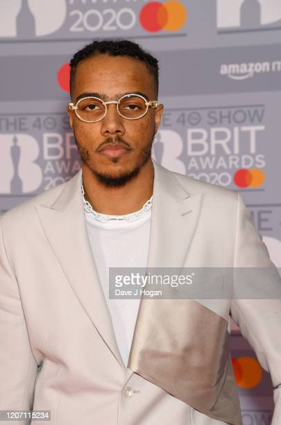 AJ Tracey attend The BRIT Awards 2020 at The O2 Arena on February 18 2020 in London England