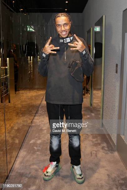 Tracey attends the Flannels campaign launch event with a special performance by AJ Tracey on November 26, 2019 in London, England.