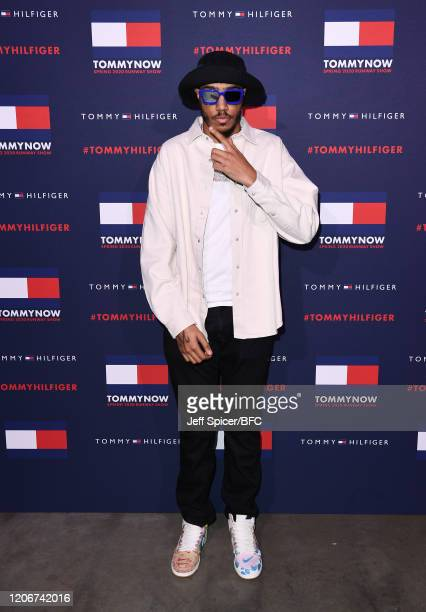 Tracey attends the TommyNow show during London Fashion Week February 2020 at the Tate Modern on February 16 2020 in London England