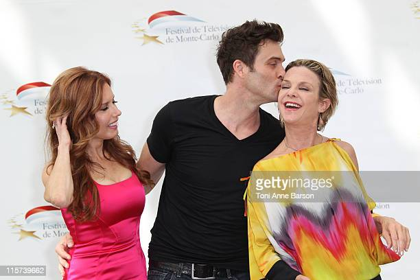 Tracey Bregman Daniel Goddard and Judith Chapman attend Photocall for 'The Young And The Restless' during the 51st Monte Carlo TV Festival on June 9...