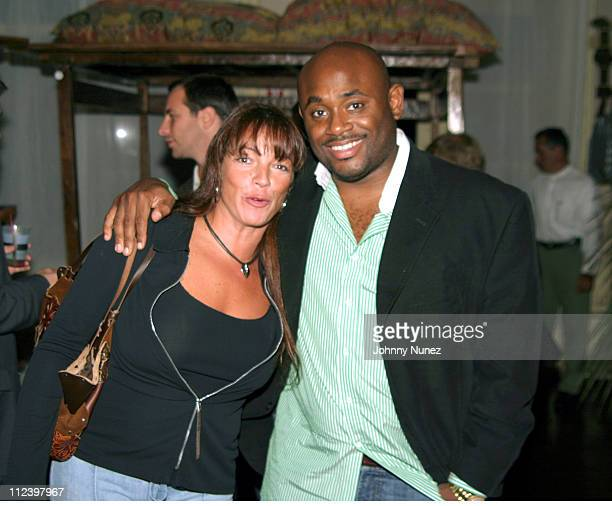 Tracey Chlarity and Steve Stoute during Bacardi Razz Presents The New Life Project Launch Party at Mobilia in New York City New York United States