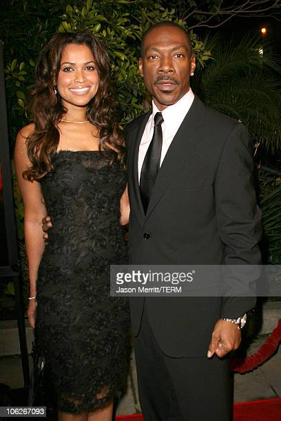 Tracey Edmonds and Eddie Murphy during 'Dreamgirls' Los Angeles Premiere Arrivals at Wilshire Theatre in Beverly Hills California United States