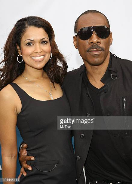 Tracey Edmonds and Eddie Murphy during 'Evan Almighty' World Premiere Presented by Universal Pictures at Universal Citywalk in Universal City...