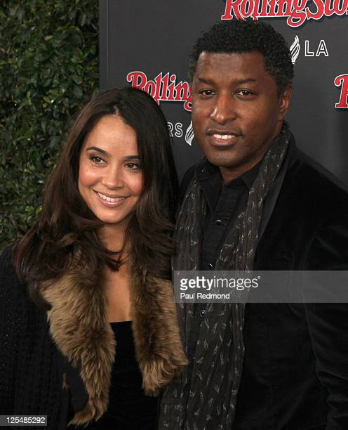 Tracey Edmonds and musician Kenneth Babyface Edmonds arrives at 2010 American Music Awards After Party Hosted By Rolling Stone Magazine at Rolling...