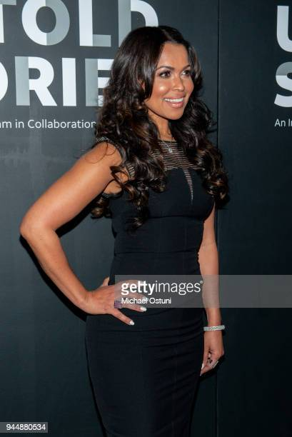 Tracey Edmonds attends ATT And Tribeca Host 2nd Annual Luncheon For ATT Presents Untold Stories at Thalassa on April 11 2018 in New York City