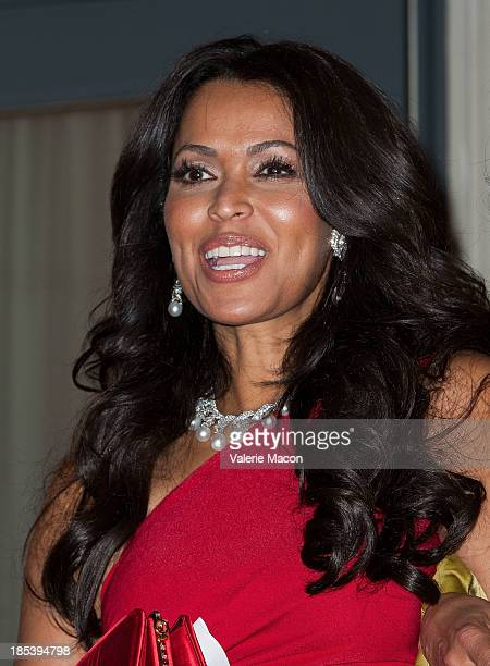 Tracey Edmonds attends House of Flowers Dinner Honoring Diahann Carroll and Cheryl Boone Isaacs at Tracey Edmonds house on October 19 2013 in Beverly...