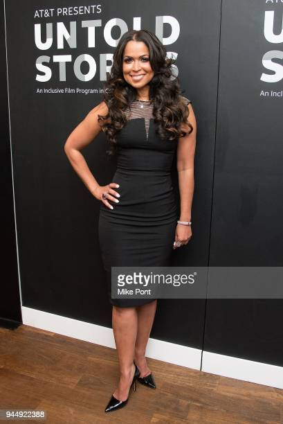 Tracey Edmonds attends the 2nd Annual ATT Presents Untold Stories An Inclusive Film Program In Collaboration With Tribeca at Thalassa on April 11...