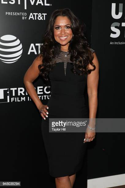 Tracey Edmonds attends the 2nd Annual Luncheon For ATT Presents Untold Stories at Thalassa on April 11 2018 in New York City