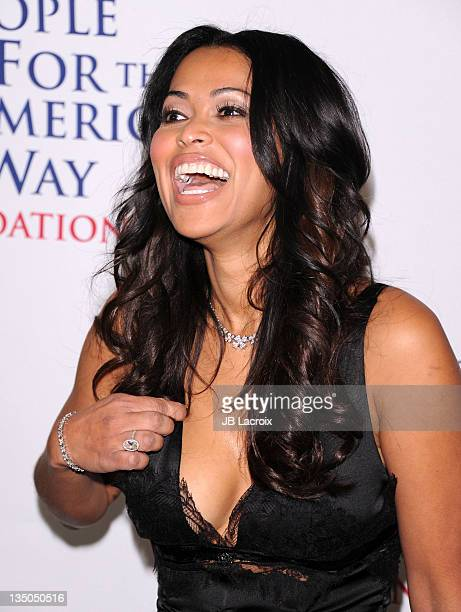 Tracey Edmonds attends the 30th anniversary of People For the American Way Foundation at the Beverly Wilshire Four Seasons Hotel on December 5 2011...