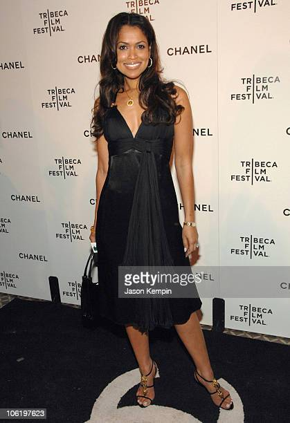 Tracey Edmonds during 6th Annual Tribeca Film Festival 2nd Annual Chanel Dinner April 26 2007 at The Bowery Hotel in New York City New York United...