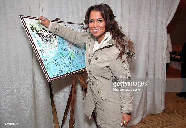 Tracey Edmonds wearing Napapijri at Go Zero EXPEDITION ZERO at The Ice Lounge presented by The North Face Lexus and St Regis*Exclusive*