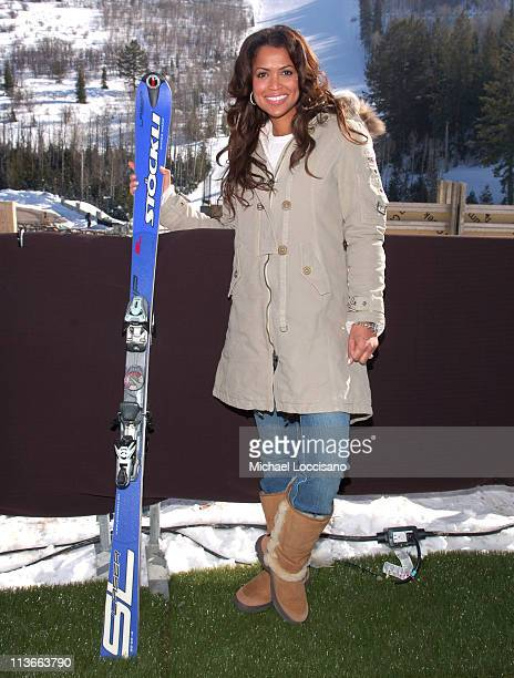 Tracey Edmonds wearing Napapijri with Stockli The Ice Lounge presented by The North Face Lexus and St Regis*Exclusive*