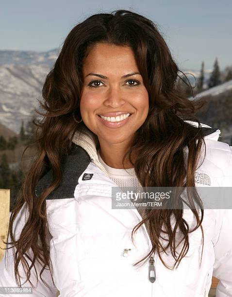 Tracey Edmonds wearing The North Face at The Ice Lounge presented by The North Face Lexus and St Regis *Exclusive*