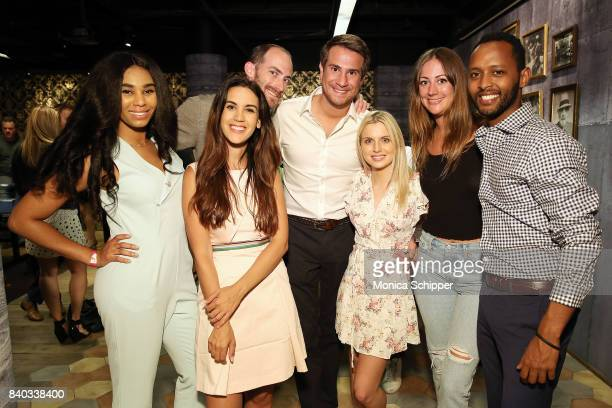 Tracey Edouard Natalie Zfat Michael Stauffer Gianni Martire Suze Dowling Erin Gray and Awet WoldegebrielÊattend the Summer SpinOff hosted by Natalie...