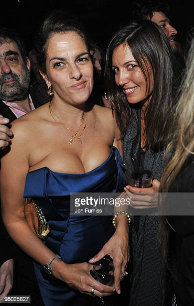 Tracey Emin and Amanda Sheppard attend the ICA fundraising gala at KOKO on March 24, 2010 in London, England.