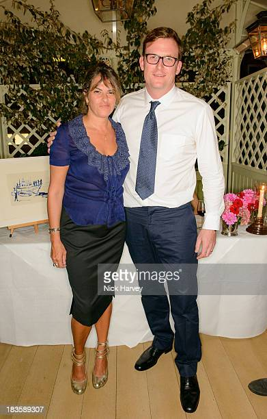 Tracey Emin and James Stephenson attend Nicola and James Stephenson Tracey Emin and Johnny Bergius VIP Party at Mark's Club on October 7 2013 in...